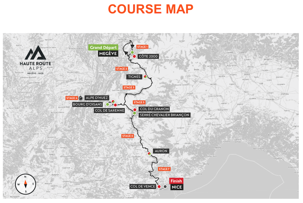 HR Alps 2021 Course Map